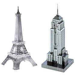 Metal Works 3-D Laser Cut Models - Landmark Buidling Set