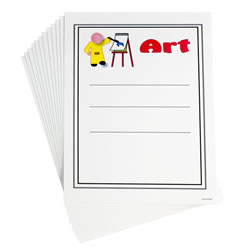 Center Dry-Erase Signs (Set of 12)