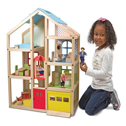 Hi-Rise Wooden Dollouse & Furniture Set