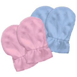Newborn Organic Cotton Baby Mitts 2 Pack