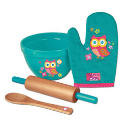 Stephen Joseph Pretend Play Owl Design Cooking Set