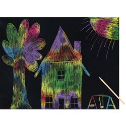 Scratch Art - Multicolor (30 Sheets)