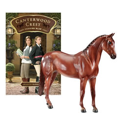 Breyer Canterwood Crest Take the Reins Horse and Book Set