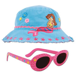 Young Child's Mermaid Bucket Hat & Matching Sunglasses