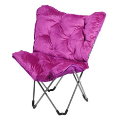 Sparkle Butterfly Chair - Fushia