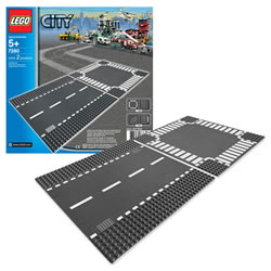 LEGO® City Straight Train Track & Crossroad