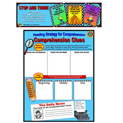 Comprehension Clues Poster & 30 Bookmarks