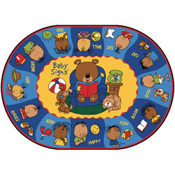 Say, Sign & Play Oval Rugs