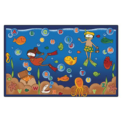 Undersea Alphabet Adventure Rugs