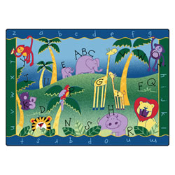 Alphabet Jungle Rectangle Carpets