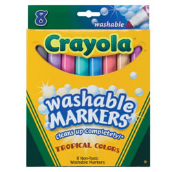 Crayola® 8-Pack Tropical Colors Washable Markers (Single Box)