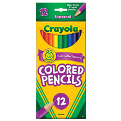 Crayola® 12-Pack Colored Pencils (Single Box)