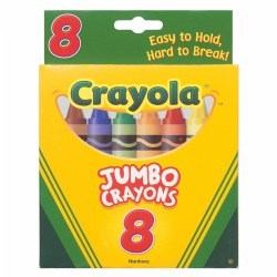Crayola® 8-Pack Crayons - Jumbo (So Big) Size (Single Box)