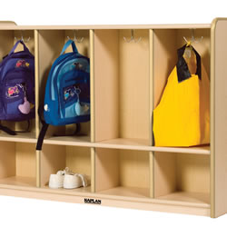 K System® Toddler 4-Section Locker - Natural w/Natural Trim