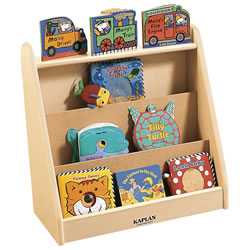 K System® Single Sided Book Display - Natural w/Natural Trim