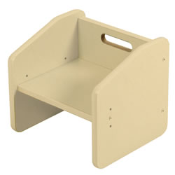 K System® Adjustable Cube Chair - Natural w/Natural Trim