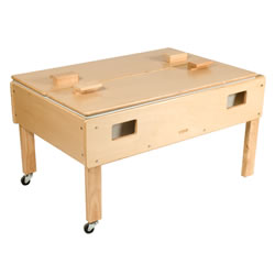 Full Size Deluxe Sand or Water Play Table with Top