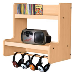 Classic Maple Wall Combo Listening Center
