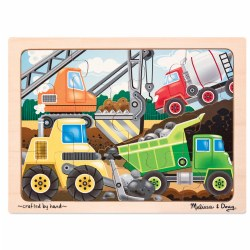 Construction Site 12 Piece Wooden Puzzle