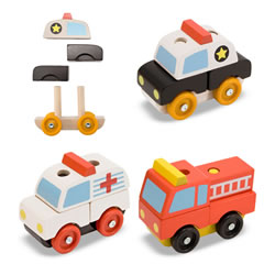 Stacking Emergency Vehicle Puzzles