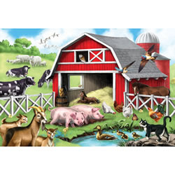 Farmyard Friends 24 Piece Floor Puzzle