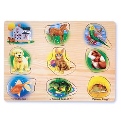 Pet Peg Puzzle by Melissa & Doug