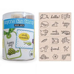 Ink 'n' Stamp® Happy Animals (Set of 18)