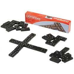 Double Six Wooden Dominoes