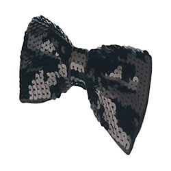 Black Sequin Bowtie