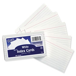 Ruled 3x5 Index Cards