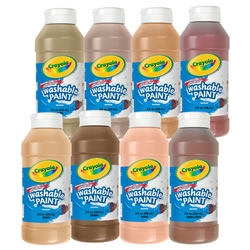 Crayola® Multicultural Washable Paints (Set of 8)