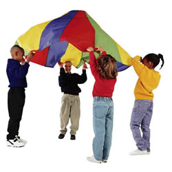 6' Rainbow Parachute with 8 Handles