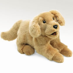 Golden Retriever Puppy Hand Puppet
