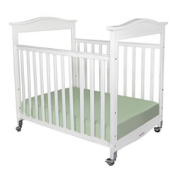 Biltmore™ Compact Fixed Side Clearview Crib - White