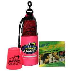 Speed Stacks Set with DVD - Neon Pink