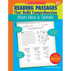 Reading Passages Main Idea & Details