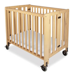 Folding Fixed Side Compact Crib