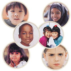 Children's Faces From Around the World Puzzles (Set of 6)