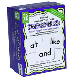 First 30 Words Textured Touch and Trace Cards