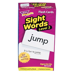 Sight Word Flash Cards Level 2