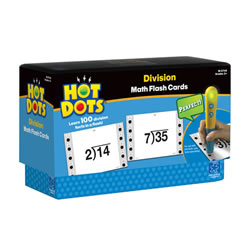Division Hot Dots® Flash Cards