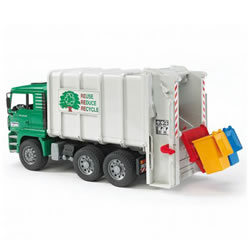 Rear Loading Green Garbage Truck