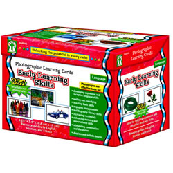 Photographic Learning Cards - Early Learning Skills (227 cards)