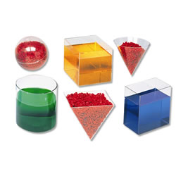 Clear Plastic Geometric Volume Set 6/pk