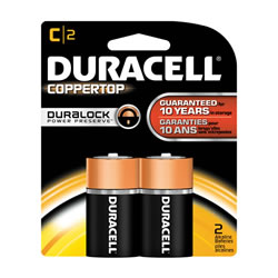DURACELL COPPERTOP Batteries C (2 pack)