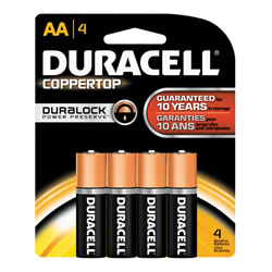 Duracell® Coppertop Battery AA (4 pack)