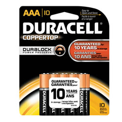 DURACELL COPPERTOP Battery AAA (10 pack)