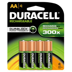 Duracell®  Rechargeable Batteries AA (4 Pack)