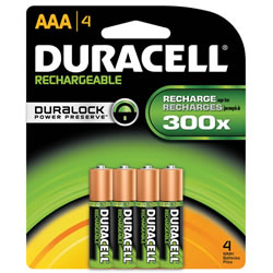Duracell®  Rechargeable Batteries AAA (4 pack)