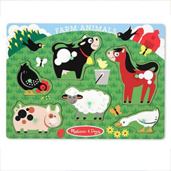 Farm Animals Peg Puzzle (6 Pieces)